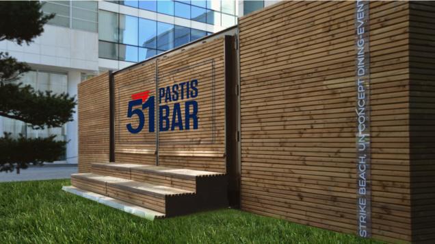 51 Pastis bar : le bar éphémère sur la terrasse de l'hôtel Pullman Paris-Centre Bercy