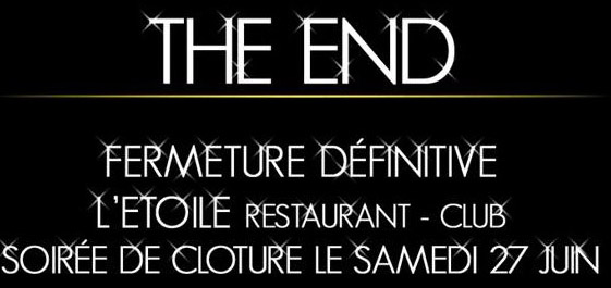 L'ETOILE Paris s'éteint. This is the END :(