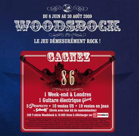 Rock'n'roll attitude avec le jeu concours Woodsbock de Bavaria