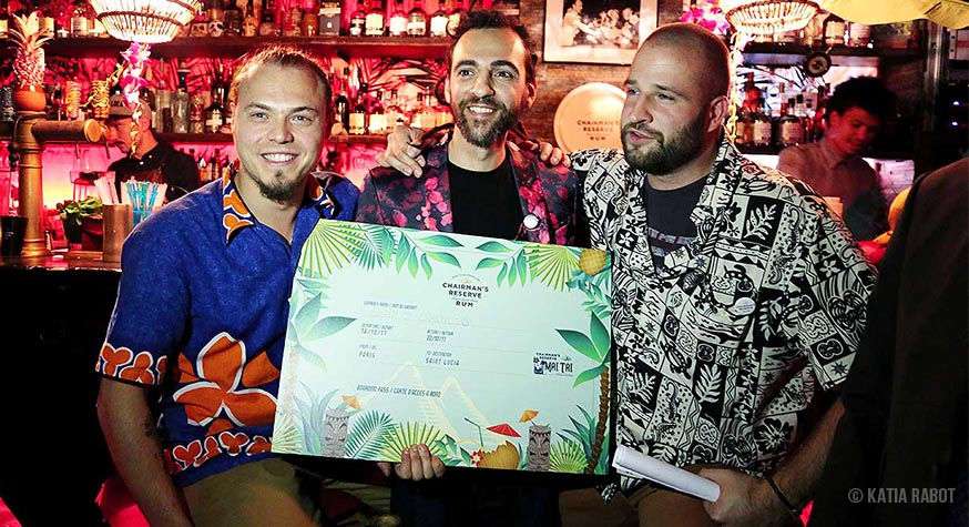 Guillaume C Leblanc (Dirty Dick), Danilo Grenci (Bluebird), Philip Gillier (Chairman's Reserve Rum)