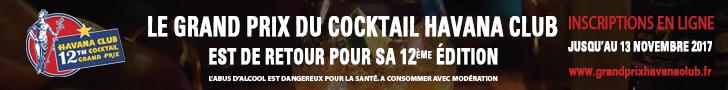 Inscriptions bartenders sur www.grandprixhavanaclub.fr