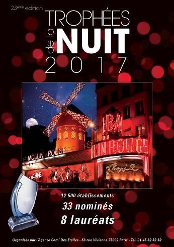 Trophées de la Nuit 2017 au Moulin Rouge : la liste des nommés