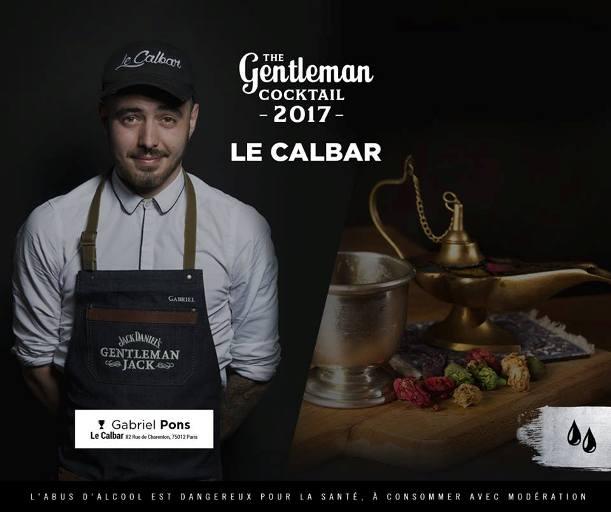 Gabriel Pons, lauréat de The Gentleman Cocktail 2017