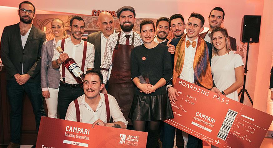 Les finalistes et le jury de la Campari Bartender Competition. Photos © Michael Voinis - Purée Maison