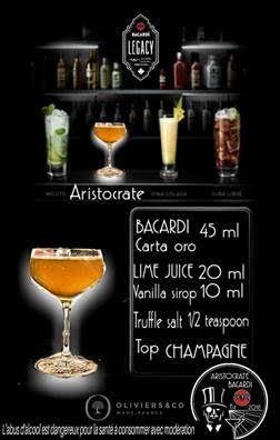 Bacardi Legacy 2018 : le cocktail Aristocrate de Jimmy Cassar en finale monde