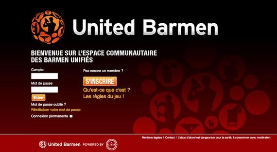 Lancement du site United Barmen au salon Cocktails Spirits 2010