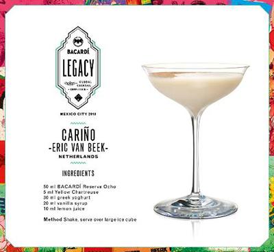 Cocktail 'Cariño' // © Bacardi Legacy 2018