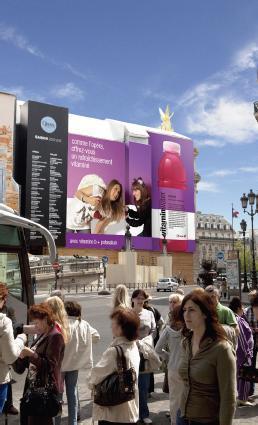 Vitaminwater s'affiche sur l'Opéra Garnier et à Lyon avec l'agence Auditoire
