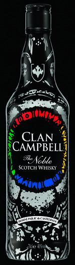 Nouvelle bouteille nuit Clan Campbell by Jean-Charles De Castelbajac