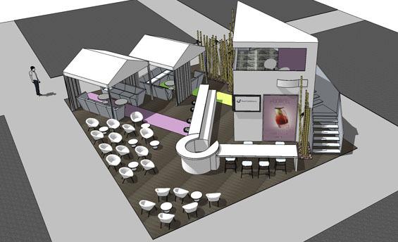 Bar Lounge EquipHotel - Visuel non définitif © DPLG
