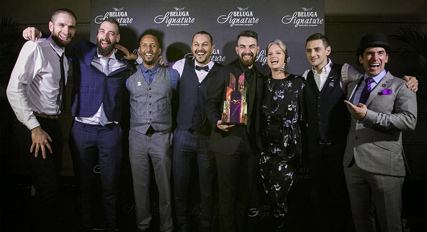 Autour d'Alessandro Venturi, les 7 finalistes du Beluga Signature 2018