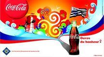 Affiche Publicitaire de Coca Cola en Bretagne