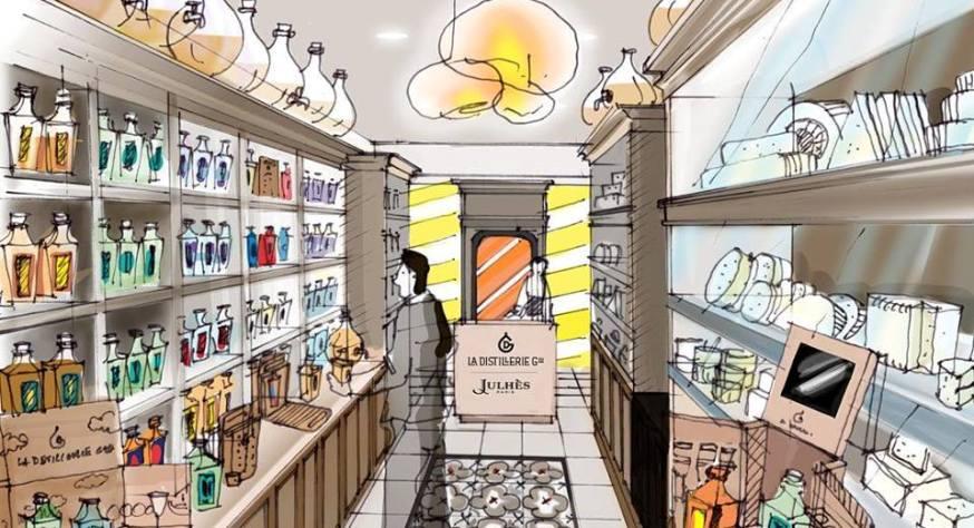 Boutique éphémère La Distillerie Générale X Julhès Paris