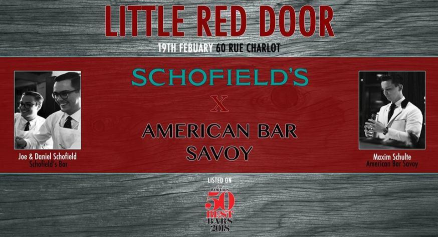 Schofield's x American Bar Savoy au Little Red Door