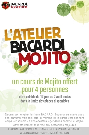les ateliers gratuits du bacardi mojito lab. Black Bedroom Furniture Sets. Home Design Ideas
