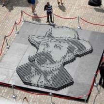 Jack Daniel's en mosaïque de verre