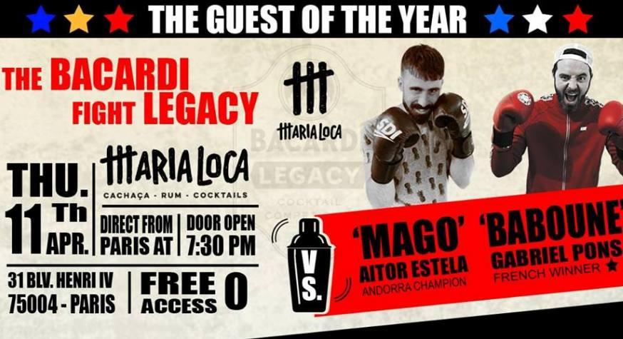 Bacardi Legacy 2019 : Aitor Estela VS Gabriel Pons au Maria Loca