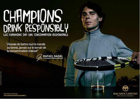 Champsions Drink Responsibly by Bacardi-Martini France