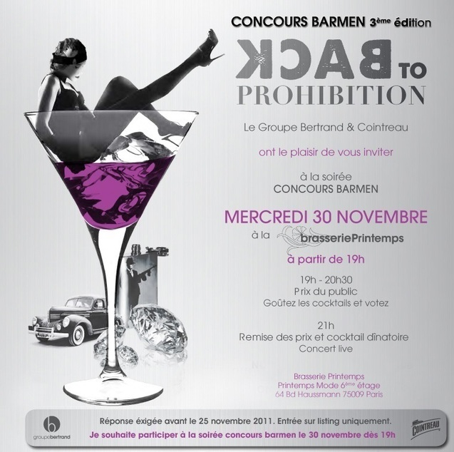 Concours Barmen 2011 à la brasserie Printemps