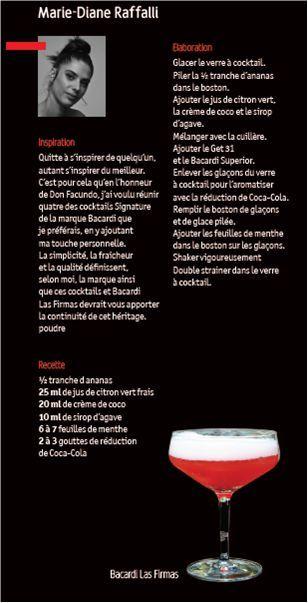 Bacardi Legacy Cocktail Competition 2011 // Marie-Diane Raffalli