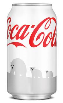 Moins de canettes blanches dans les étalages pour Coca-Cola
