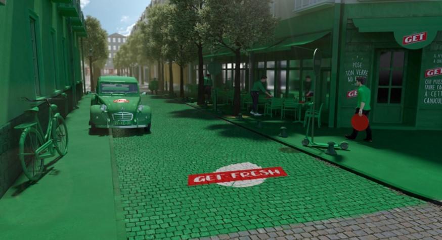 La rue la plus fraîche de Paris