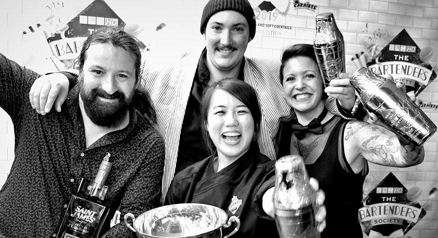 Les vainqueurs de The Bartenders Society 2019 © Gilles Petipas