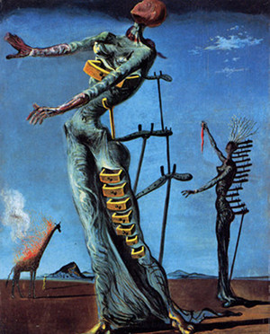 Tableau La girafe en feu de Salvador Dali - 1937