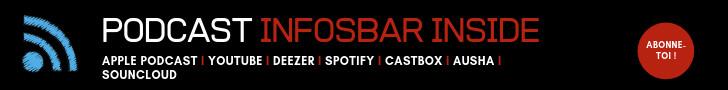 Abonne-toi au podcast Infosbar Inside sur toutes les bonnes plateformes