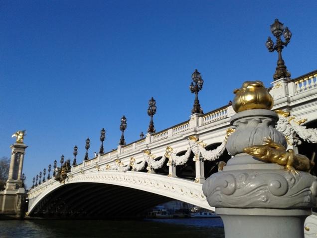 Vue depuis le Faust sur le Pont Alexandre III // © Caroline Jolivet