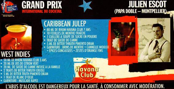 Julien Escot remporte la finale France du Grand  Prix Havana Club
