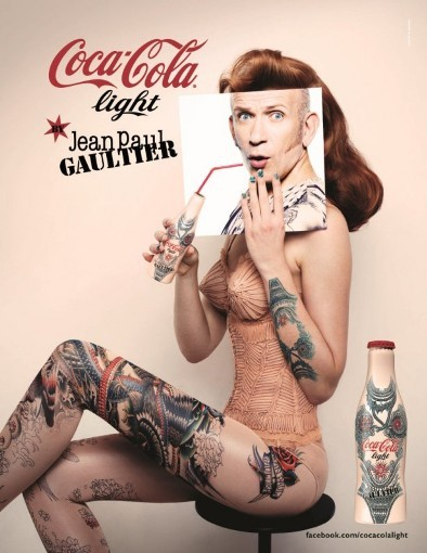 Troisième bouteille collector Coca-Cola light by Jean-Paul Gaultier