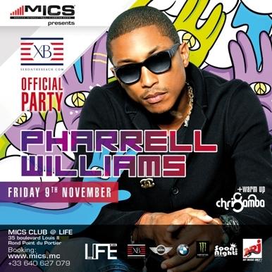 VENDREDI 9 NOVEMBRE 2012 : soirée Hip Hop - Pharrell Williams