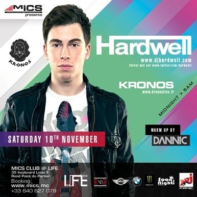 SAMEDI 10 NOVEMBRE 2012 : soirée Dutch Influence – Hardwell