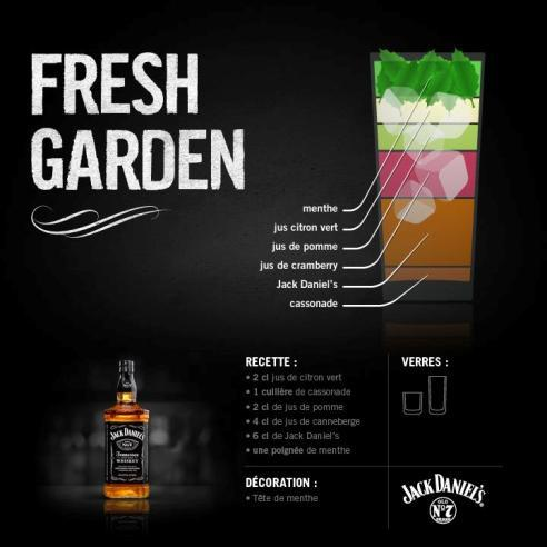 Le Fresh Garden par Jack Daniel's // (c)Facebook Jack Daniel's France