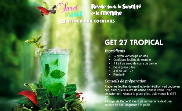 Get 27 tropical for Cocktail get 27