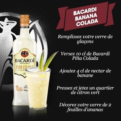 Bacardi Banana Colada // © Bacardi France Facebook
