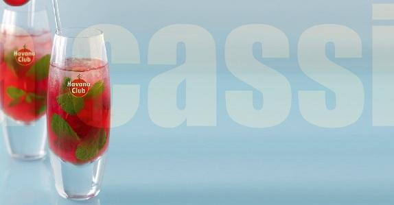 Cocktail Vanilla Cassis Mojito // © Havana Club