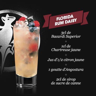 Cocktail Florida Rum Daisy // © Facebook Bacardi France