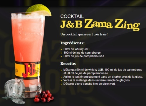 "Cocktail ""J&B Zama Zing"" // © J&B"