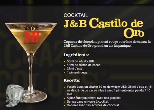 "Cocktail ""J&B Castillo de Oro"" // © J&B"