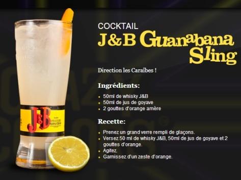 "Cocktail ""Guanabana Sling"" // © J&B"