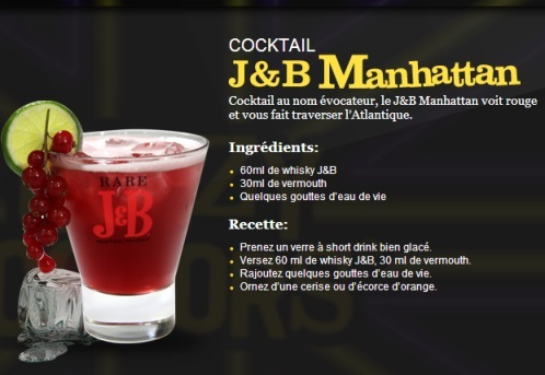 "Cocktail ""J&B Manhattan"" // © J&B"