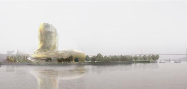 Image de synthèse de la silhouette du bâtiment (Agence X-TU)