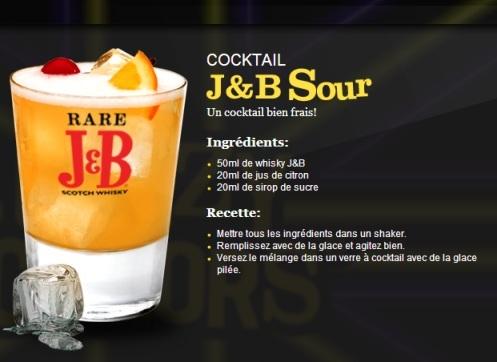 Cocktail J&B Sour // © J&B