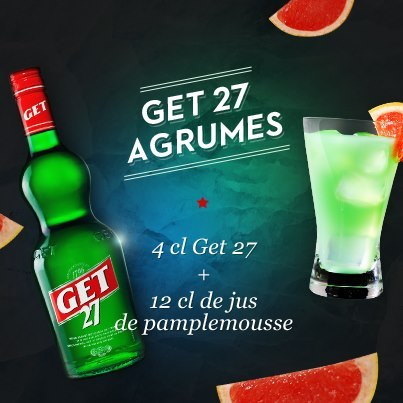 "Cocktail ""Get 27 Agrumes"" // © Page Fan Facebook Get 27 France"