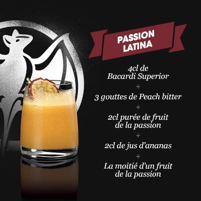"Cocktail ""Passion Latina"" // © Page Fan Bacardi France"