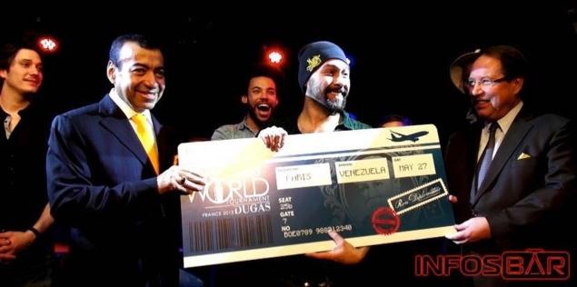 Michael Landart, vainqueur de la finale française du Diplomatico World Tournament 2013 // © Infosbar