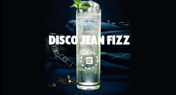 """Recette Cocktail """"Disco Jean Fizz"""" // © Absolut"""