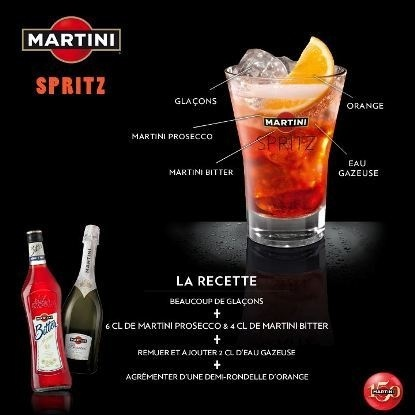 "Recette Cocktail ""Martini Spritz"" // © Martini"